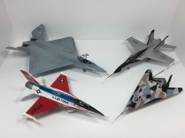 YF-16A Fighting Falcon, YF-17A Cobra, YF-23 Gray Ghost, & Have Blue
